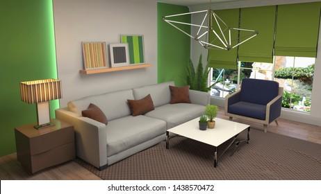 Maison Moderne Interieur Images, Stock Photos & Vectors ...
