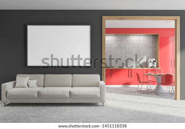Excellent Interior Modern Living Room Gray Walls Stock Illustration Gamerscity Chair Design For Home Gamerscityorg