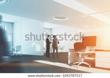 Fußboden Modern Talking ~ Interior modern office white walls white stockillustration