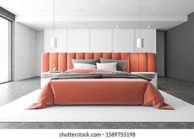 White Bedroom Orange Wall Images, Stock Photos & Vectors ...