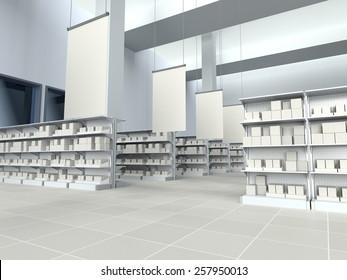 Supermarket Interior Images, Stock Photos & Vectors | Shutterstock
