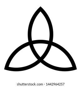 Interlaced triquetra symbol with a white background