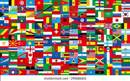 International ,3d, global, flag