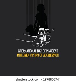 International Day of Innocent Children Victims of Aggression. flyer, banner