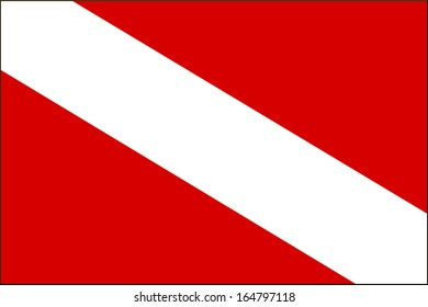 International Diver Down Warning Flag With Black Border