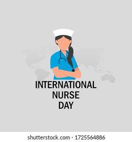 International Nurse day with text