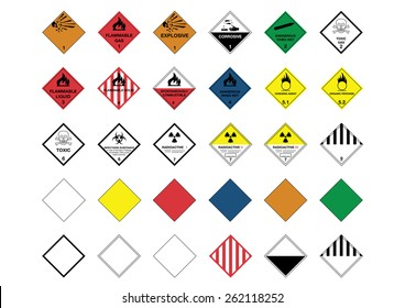 International Warning Diamond Symbols