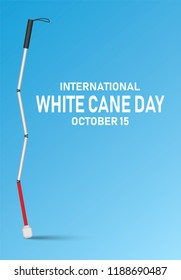International white cane day concept banner. Realistic illustration of international white cane day concept banner for web design