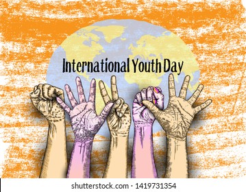International Youth Day, IYD is an awareness day designated by the United Nations. The purpose is cultural and legal issues surrounding youth.  Annual celebration on August 12. Raster