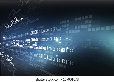 internet background with binary code