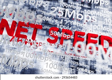 Internet Broadband Speed Conceptual 3D Illustration. Internet Infrastructure and Technology. Net Speed.