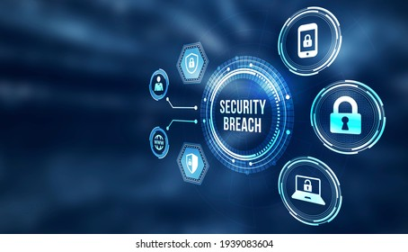 Internet, business, Technology and network concept. Cyber security data protection business technology privacy concept. 3d illusration