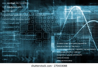 Internet Concept Background with Digital Concept Abstract in Blue