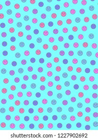 Internet concept. Geometric texture. Throng containing random emotions.