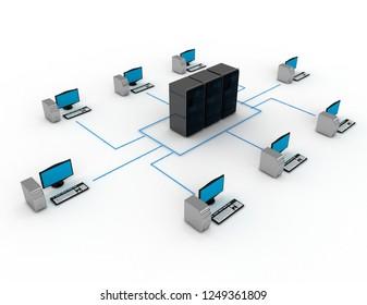 internet concept.3d illustration