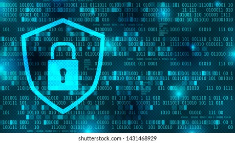 Internet or data security background