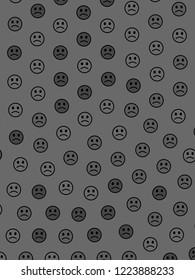 Internet decoration. Creative template. Throng including random emotions.