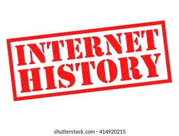 INTERNET HISTORY red Rubber Stamp over a white background.
