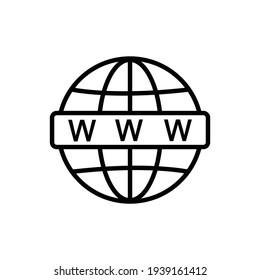 internet icon line illustration icon