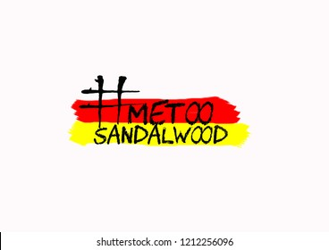 Internet protest hashtag MeToo on isolated background, used for campaign against sexual violence and abuse of women in sandalwood or Kannada film industry in India