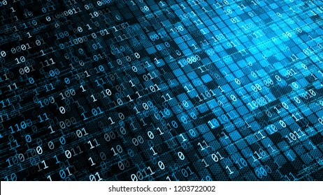 Internet Technology.Conceptual visualization of Information and data flow, exchange and processing on internet