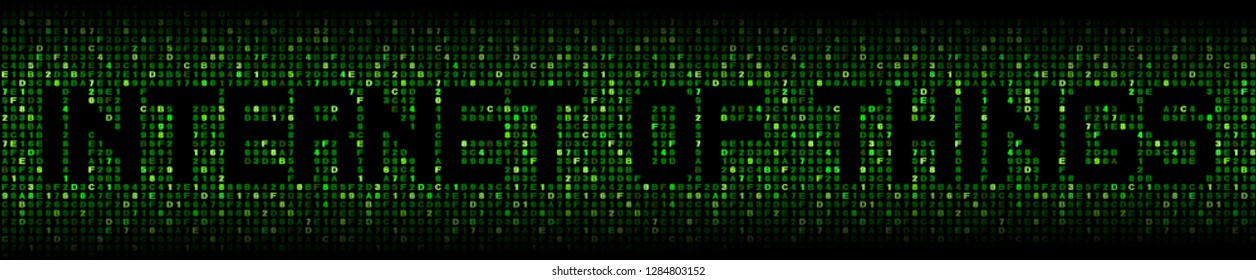 Internet of things text on abstract hex background illustration
