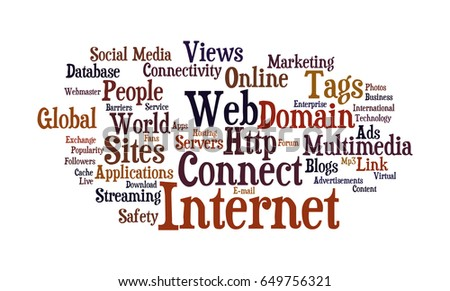 Royalty Free Stock Illustration of Internet Word Cloud Stock