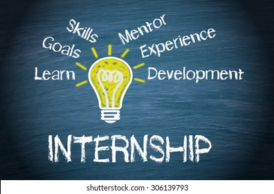 Internship - Business and Education Concept