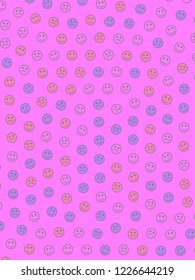 Interplay concept. Abstract backdrounds. Throng composed of smart smileys.