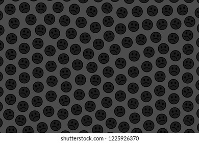 Interplay concept. Creative pattern. Throng composed of random spirits.