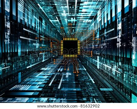 interplay digital circuit technical texture graphics stockinterplay of digital circuit and technical texture graphics on the subject of electronics, computers,
