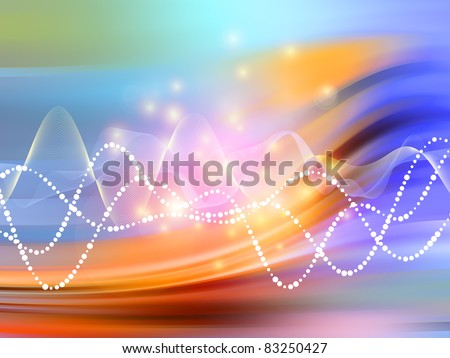 Interplay Various Elegant Wave Designs Against Stock Illustration