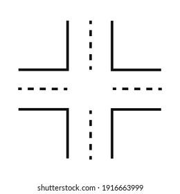 Intersection icon line illustration icon