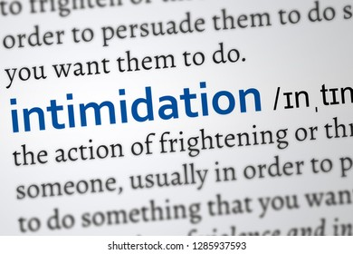 intimidation word definition. highlighted concept