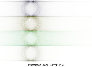 Intricate blue, silver and yellow  abstract string / disc design (3D illustration, white background)