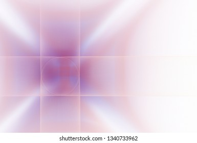 Intricate pink, purple and white woven geometric design (3D illustration, white background)