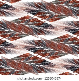 Intricate red, pink and grey abstract woven rope / diamond design (3D illustration, white background)