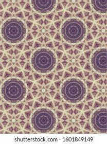 Intricate, unique geometric designs in a muted palette