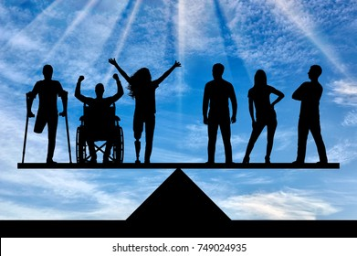 Invalids equal in rights in the balance with healthy people. The concept of social b legal equality of persons with disabilities in society