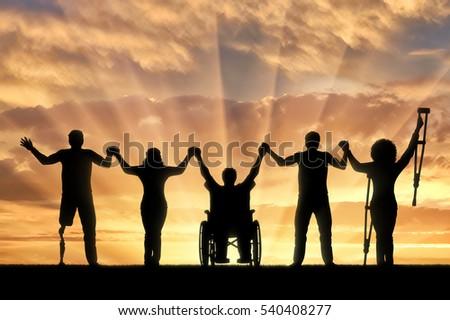 invalids on crutches wheelchair prosthesis foot em ilustração stock
