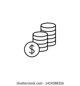 investment payments symbol black line icon