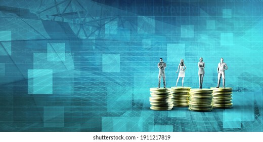 Investment Planning and Wealth Portfolio Services Background 3d Render