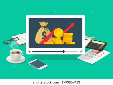 Investment webinar learning video courses online, stocks market trading training study, education of financial planning, internet web school of economy lesson, money budget, cash tutorial
