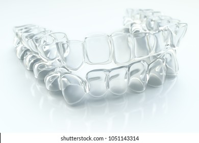 Invisible aligner, braces - 3D Rendering