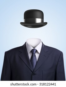 Invisible man with Bowler hat.