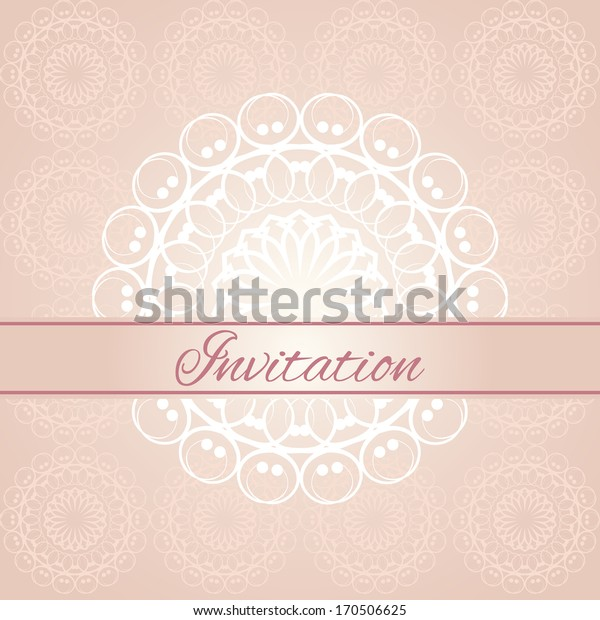 Invitation card. Raster version