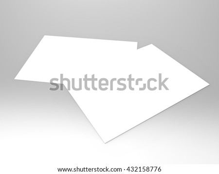 invitation cards 3 d render professional invitation stock