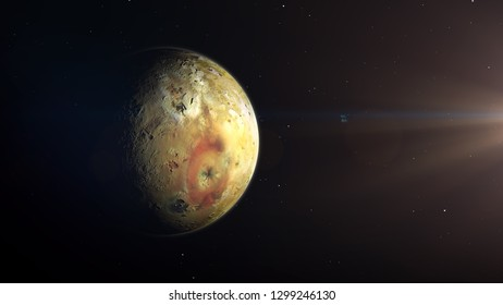IO Jupiter moon 3d render