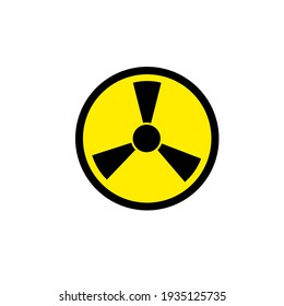 ionizing symbol icon danger industrial sign