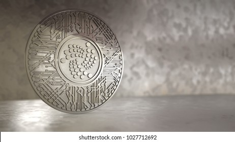 IOTA coin (MIOTA) or IOT cryptocurrency altcoin 3D Render. IOTA uses a revolutionary new blockless distributed ledger called the tangle which is scalable
